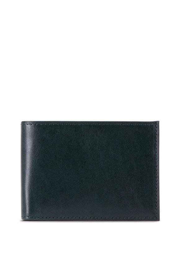 Bosca Forest Green Leather Bi-Fold Wallet