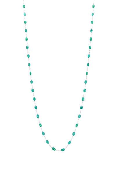 Paul Morelli - Platinum Emerald White Diamond Necklace