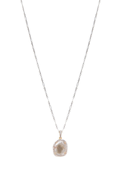 Loriann - Gold & Sterling Silver White Diamond Necklace