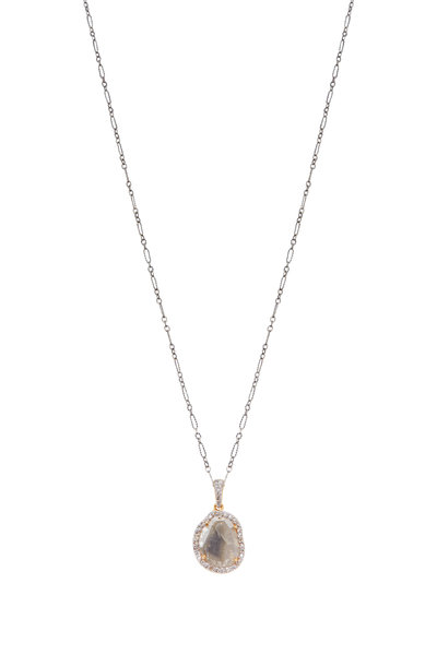 Loriann - Yellow Gold & Sterling Silver Diamond Necklace