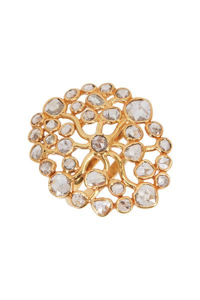 Loriann - Gold & Silver Fancy Diamond Ring