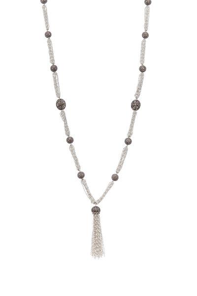 Loriann - Freshwater Pearl Tassel Necklace