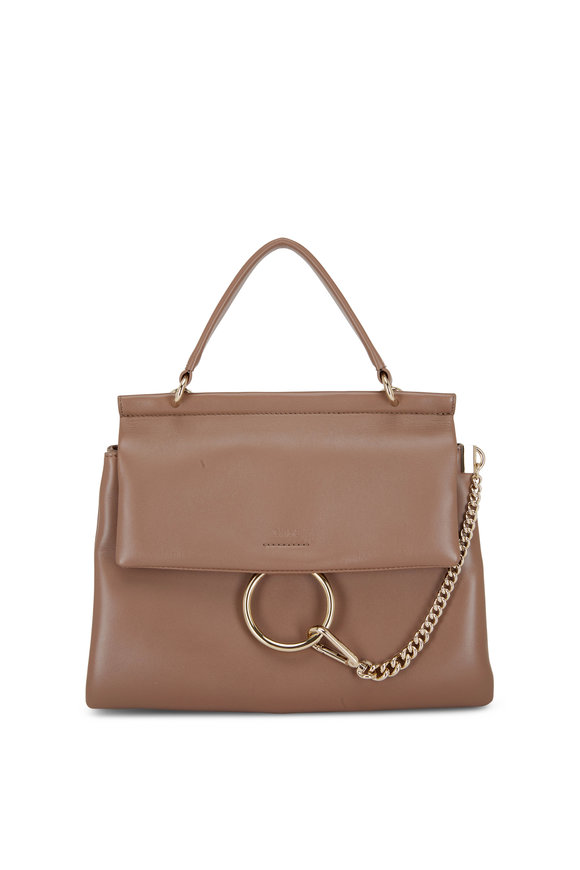 Chloé Faye Desert Taupe Leather Large Day Bag