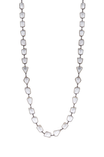 Loriann - Geometric Clear Quartz Accessory Chain Necklace