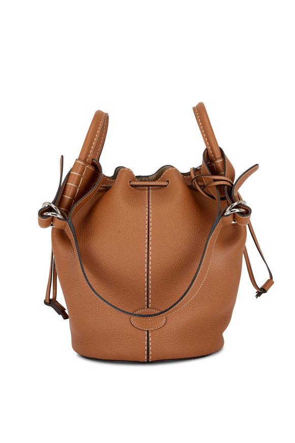 Tod's Kenia Brown Leather Medium Bucket Bag