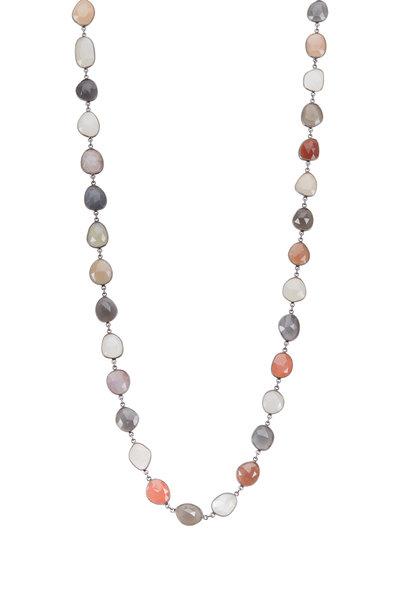 Loriann - Multicolor Moonstone Organic Chain Necklace