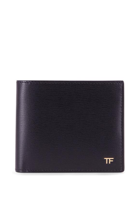 Tom Ford T-Line Black Leather Bi-Fold Wallet