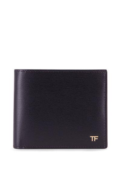 Tom Ford - T-Line Black Leather Bi-Fold Wallet