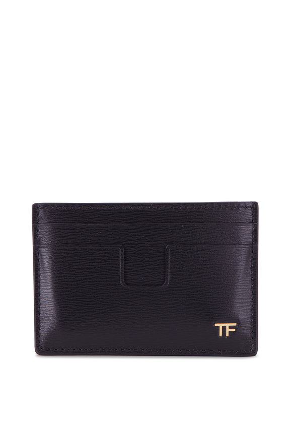 Tom Ford Classic Black Grained Leather Cardholder