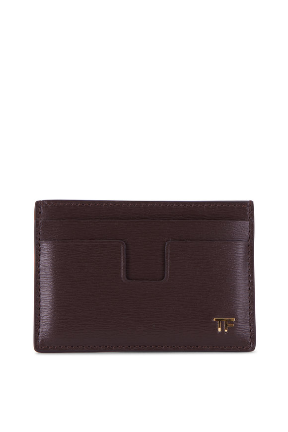 Tom Ford Classic Wood Leather Cardholder