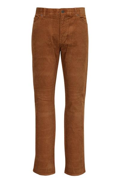 Peter Millar - Rust Orange Soft Corduroy Five Pocket Pant