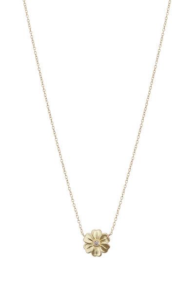 Jamie Wolf - Yellow Gold Diamond Lilac Flower Necklace
