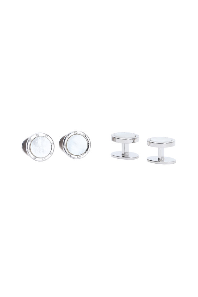 Sterling Silver Mother-Of-Pearl Stud Set