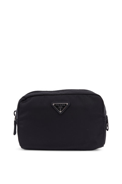 Prada - Vela Black Nylon Medium Cosmetic Bag