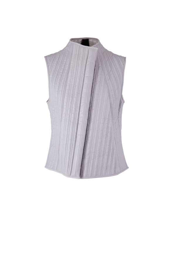KZ_K STUDIO Static Gray & Ivory Reversible Leather Vest