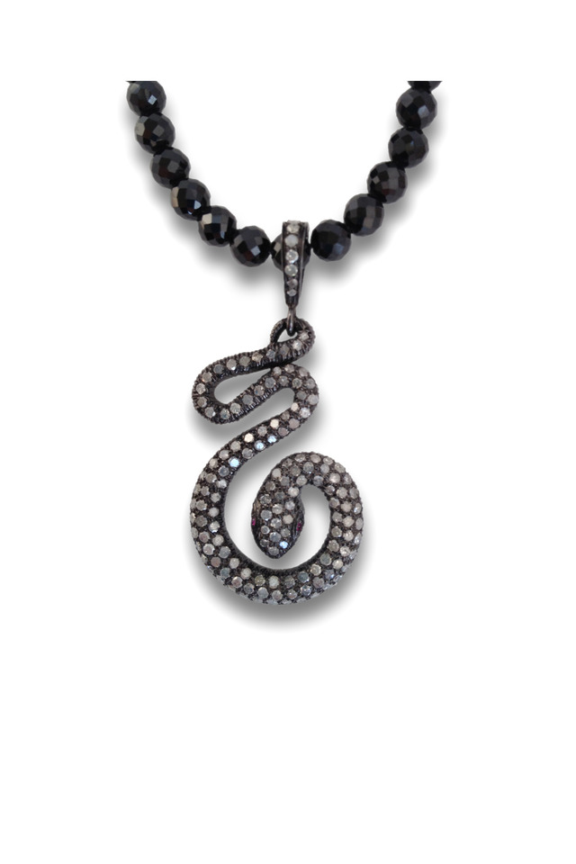 Gold And Silver Diamond Snake Necklace