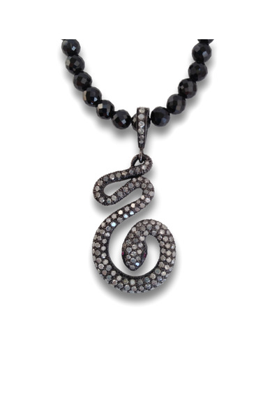 Loriann - Gold And Silver Diamond Snake Necklace
