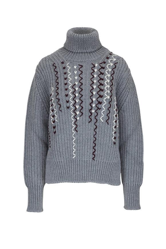 Golden Goose Doreen Gray Turtleneck Sweater