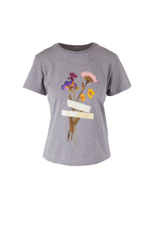 Golden Goose Golden Gray Flower Graphic T-Shirt