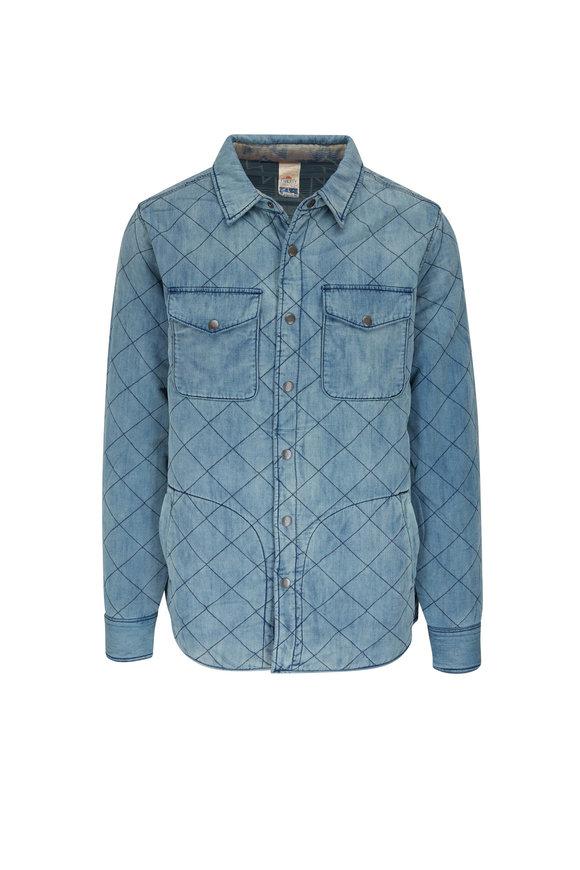 Faherty Brand Bondi Indigo Reversible Overshirt