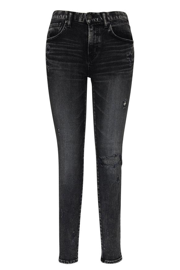 Moussy Lenwood Black Distressed Skinny Jeans