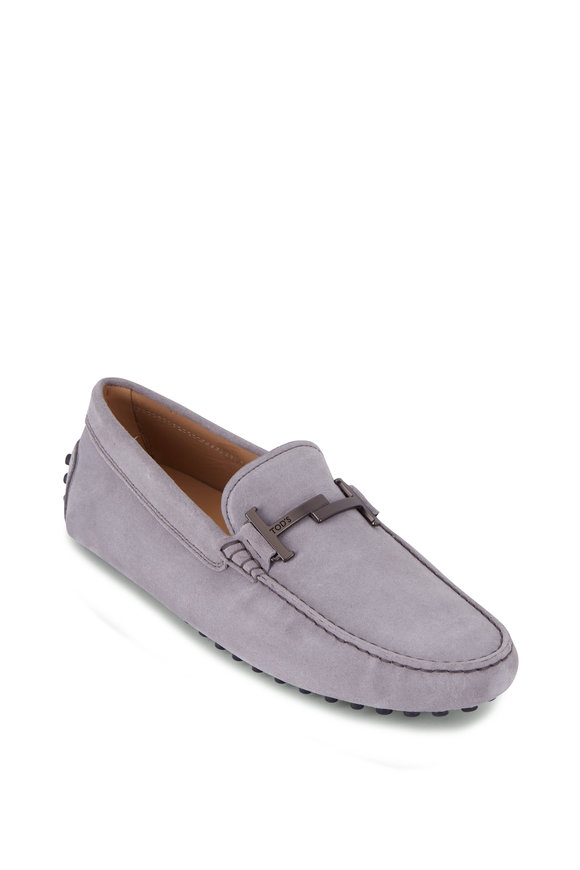 Tod's Gray Suede Double T Gommino Driver