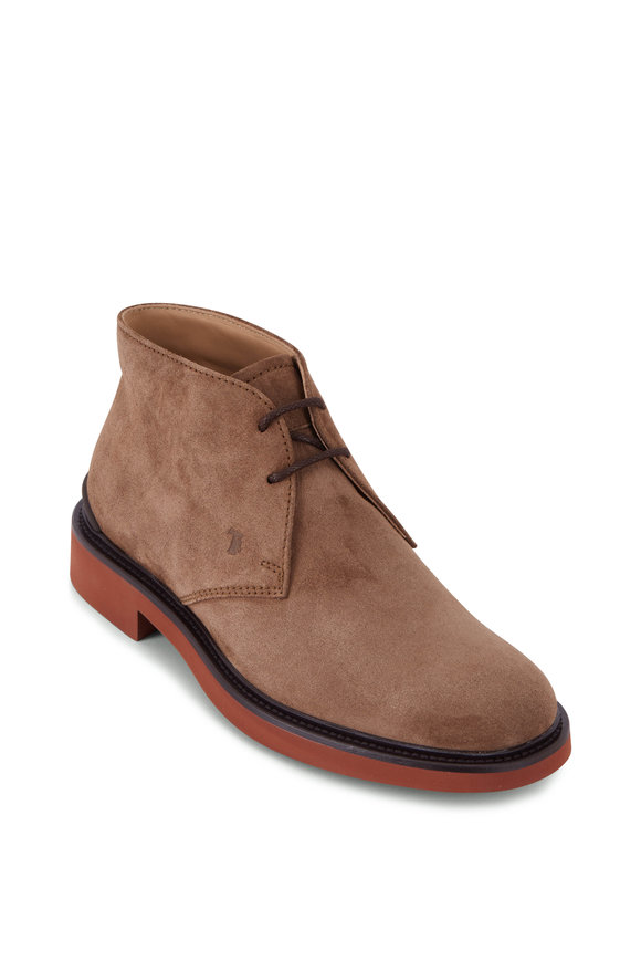 Tod's Tobacco Suede Lace-Up Boot