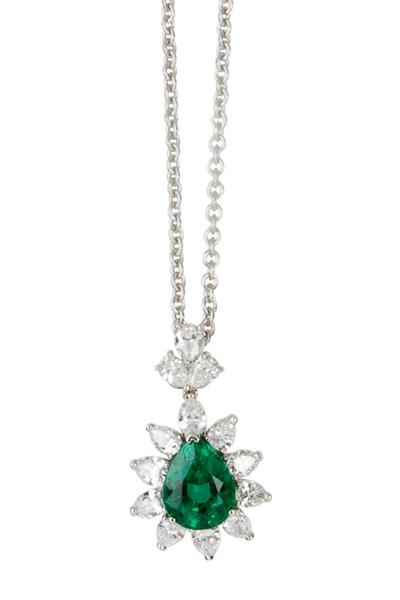 Oscar Heyman - Emerald Diamond Pendant