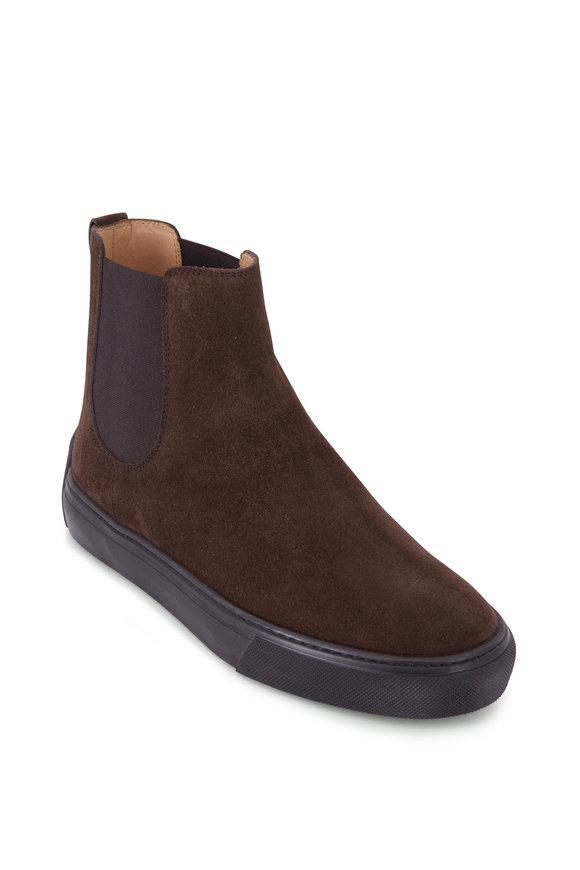 Tod's Dark Brown Sude Chelsea Boot