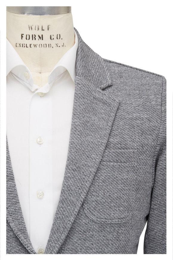 Faherty Brand Gray Mélange Knit Jacket