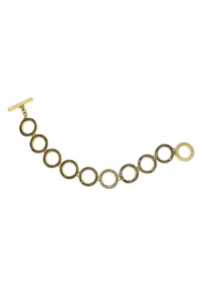 Todd Reed - Circle Frame Gold Bracelet