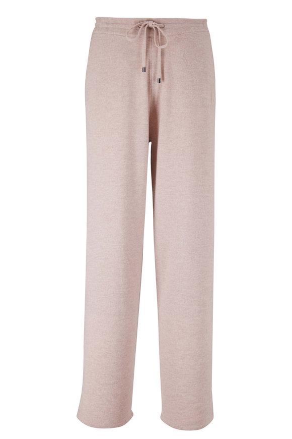 Bogner Libby Dark Oat Wool Drawstring Wide Leg Pant