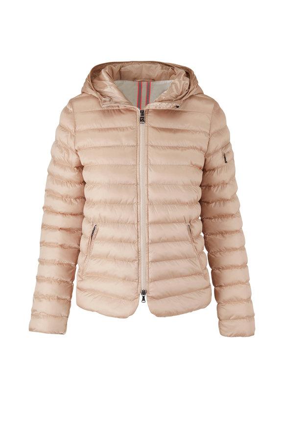 Bogner Tarja Beige Hooded Puffer Coat