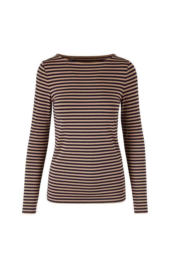 Bogner Dark Oat & Black Feeder Stripe T-Shirt
