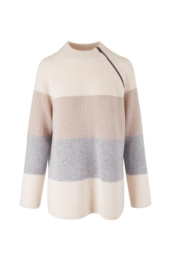 Bogner Lona Neutral Stripe Wool Sweater