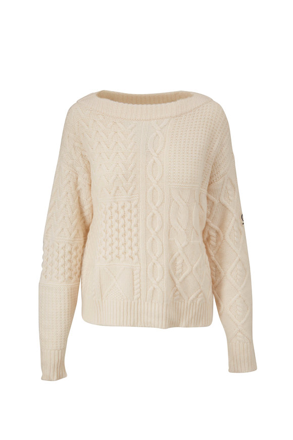 Bogner Khira Off-White Cable Knit Sweater