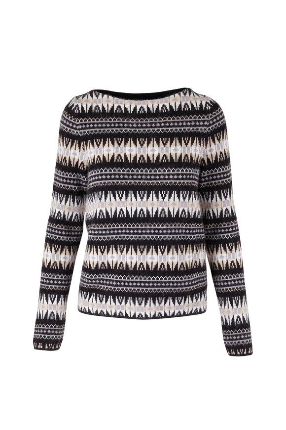 Bogner Norja Black Fairisle Sweater