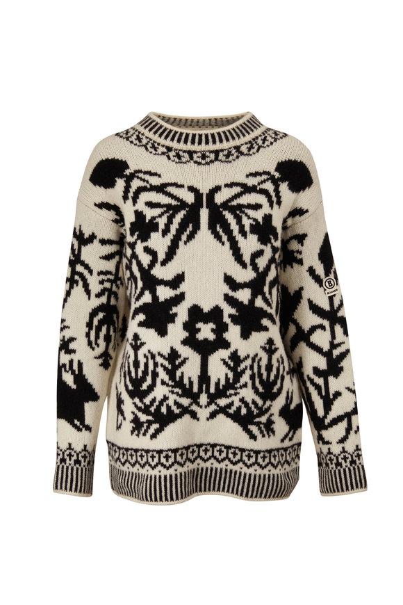 Bogner Wiola Black & White Instaria Wool Sweater