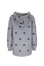 Bogner - Saya Light Gray French Terry Embroidered Hoodie