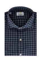 Giannetto - Blue & Gray Check Cotton Sport Shirt