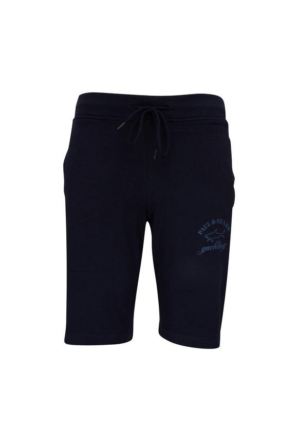 Paul & Shark Navy Fleece Bermuda Shorts
