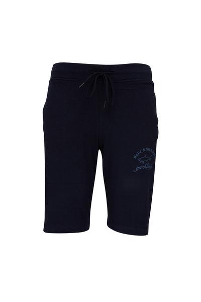 Paul & Shark - Navy Fleece Bermuda Shorts