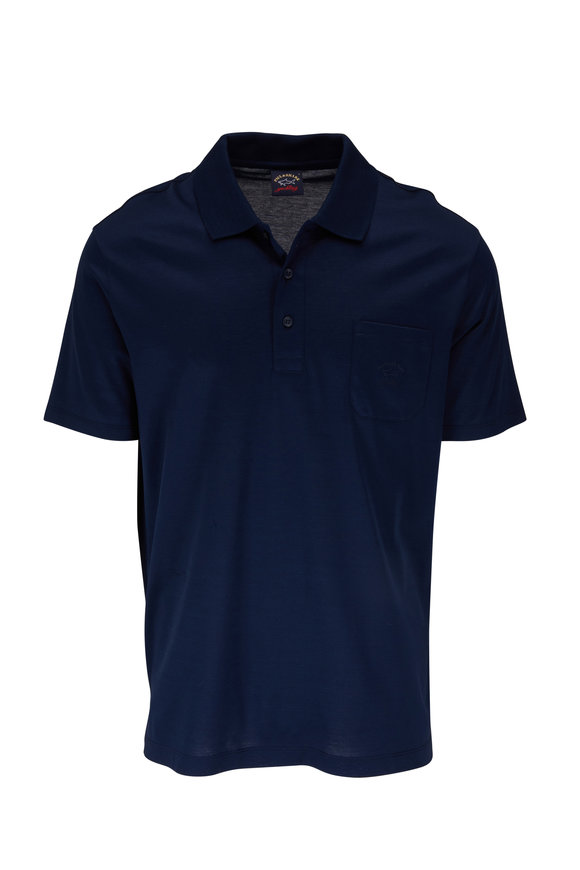 Paul & Shark Navy Cotton Pocket Polo