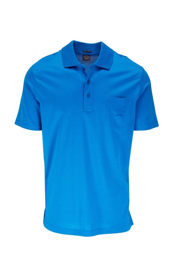 Paul & Shark Blue Cotton Pocket Polo