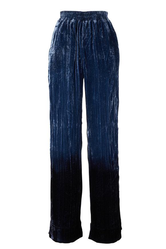Golden Goose Brittany Blue Velvet Pull On Pant