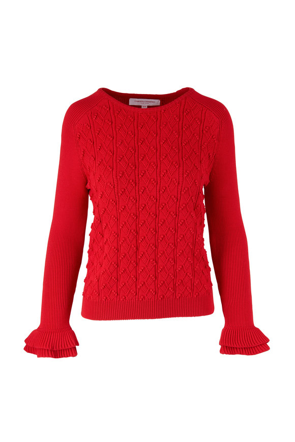 Carolina Herrera Red Knit Sweater