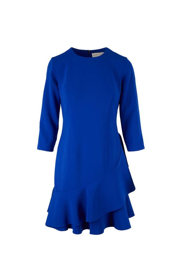 Sachin + Babi Vanessa Cobalt Blue Ruffle Dress