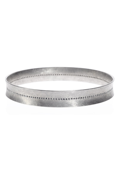 Todd Reed - Palladium Diamond Center Line Bangle
