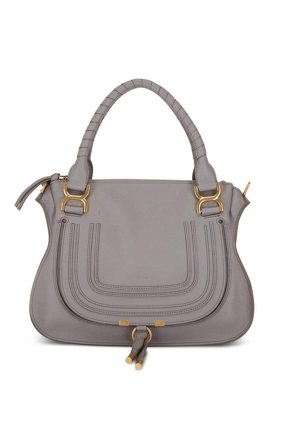 Chloé Marcie Cashmere Gray Medium Double Carry Bag