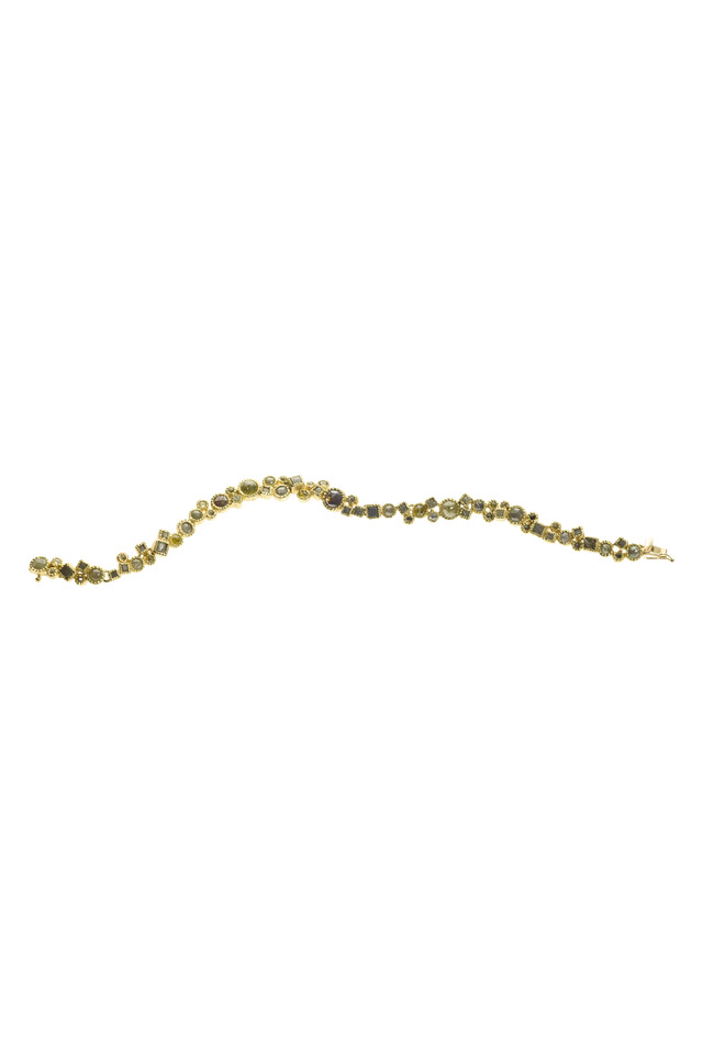 Rose-Cut Diamond Gold Line Bracelet